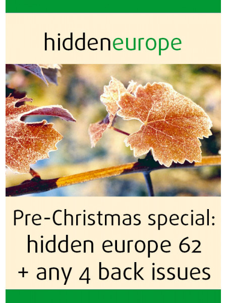 Pre-Christmas sale: hidden europe 62 + any 4 back issues